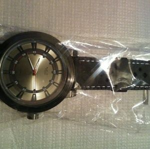 M Milano Expression Leather Strap Watch